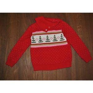 Gymboree Cozy Owl Button Neck Fair Isle Sweater